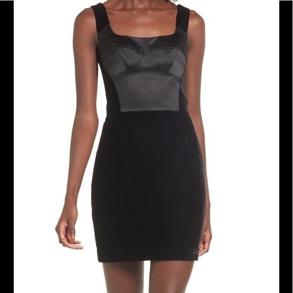 d3f16d82aefa Topshop Dresses | Nwt Black Velvet And Satin Mini Dress | Poshmark